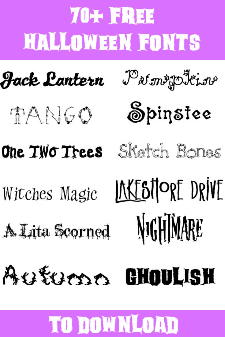 The Best Free Halloween Fonts - Your Everyday Family