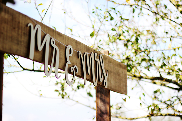 Mr & Mrs Sign - recently engaged help