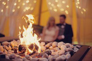 Fire at a Tipi Wedding