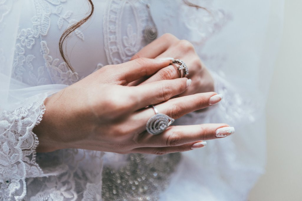 Engagement ring on your wedding day