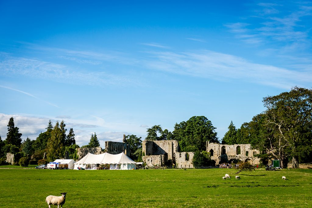 Marquee Wedding Venue - Jervaulx Abbey. Help with a marquee wedding.