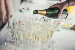 Champagne at Drinks Reception