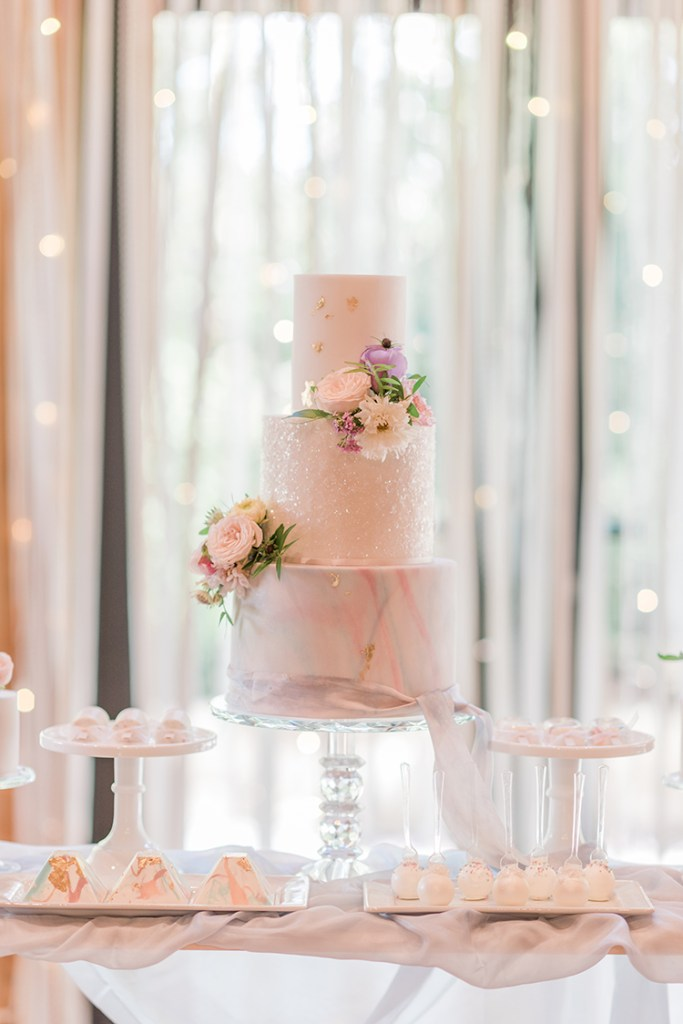 Pearlescent Wedding Cake