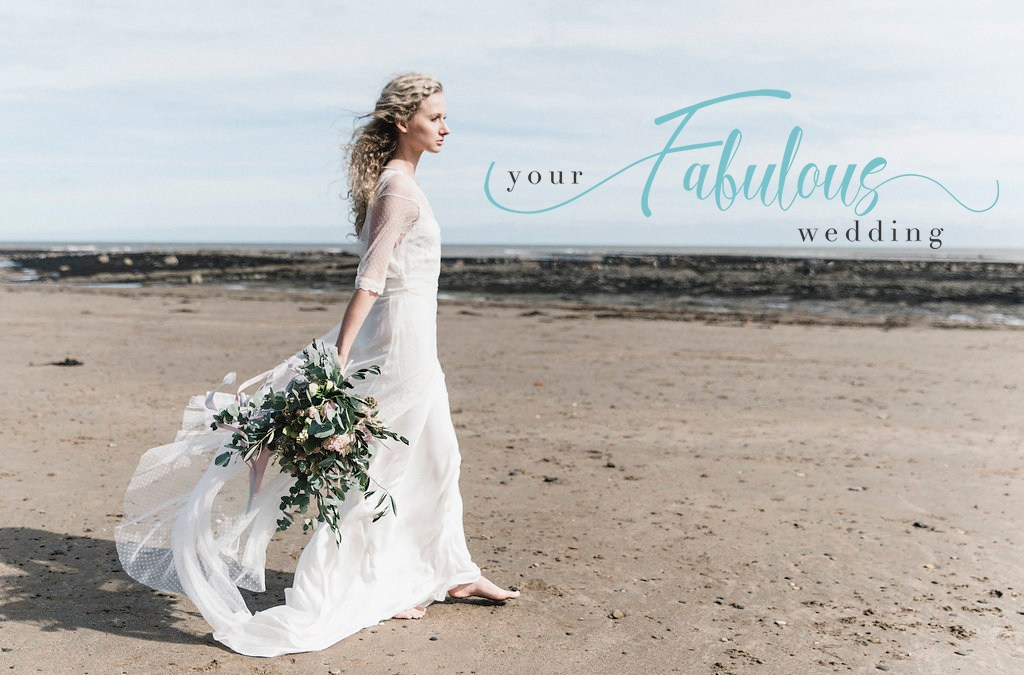 Beach Wedding Shoot on the Yorkshire Coast