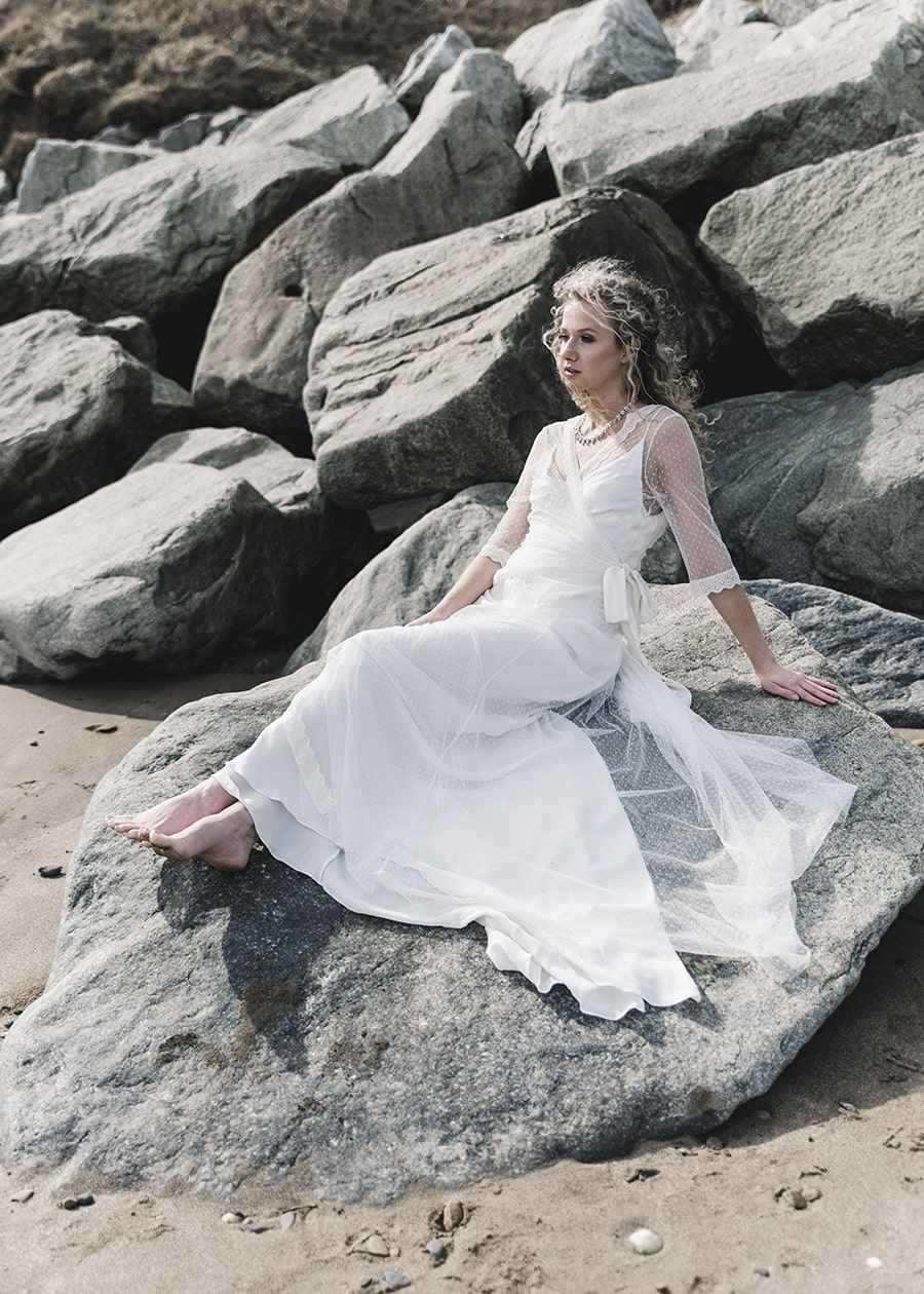 Boho Beach Wedding on the Rocks