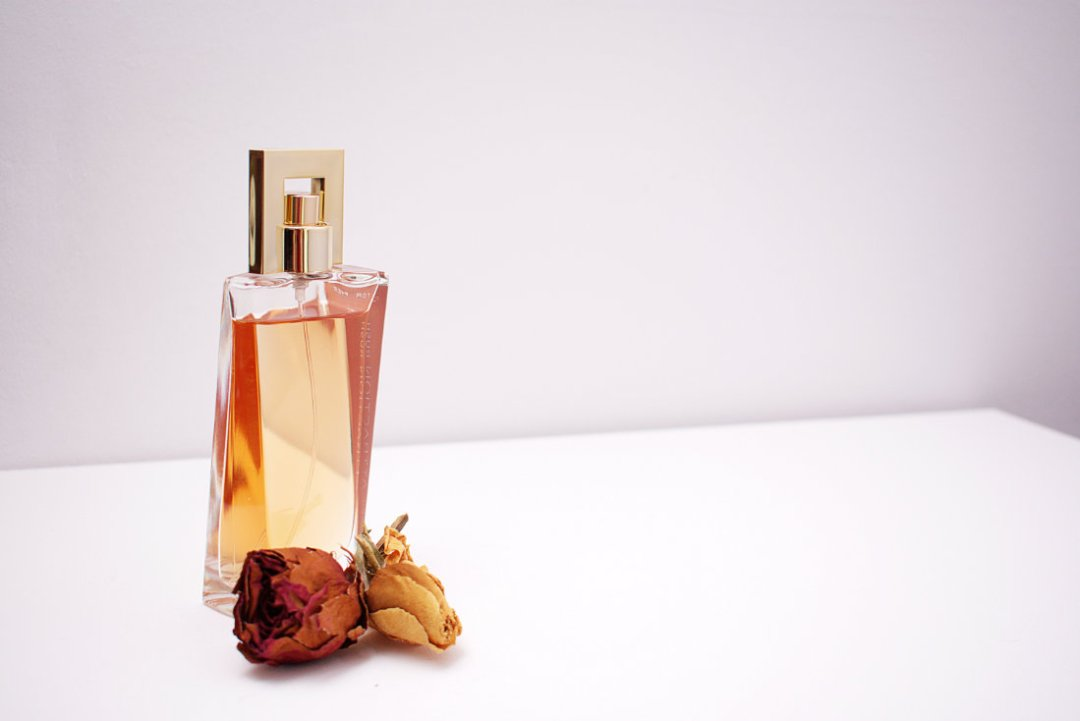 Dried Flowers & Perfume Bottle