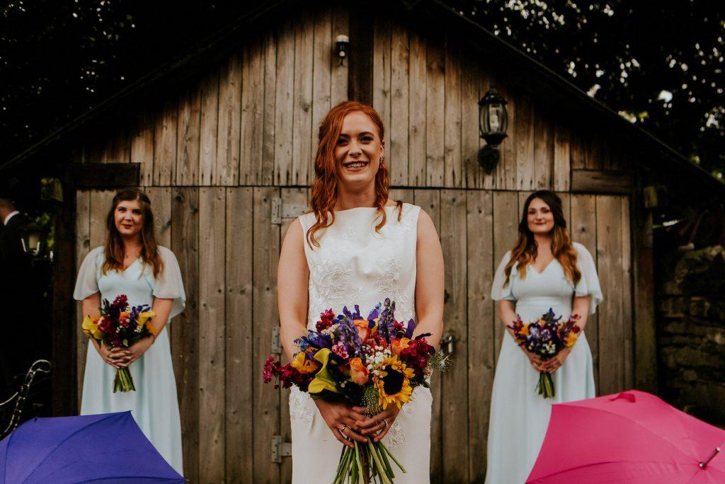 Rosie & Bridesmaids, Burnsall wedding