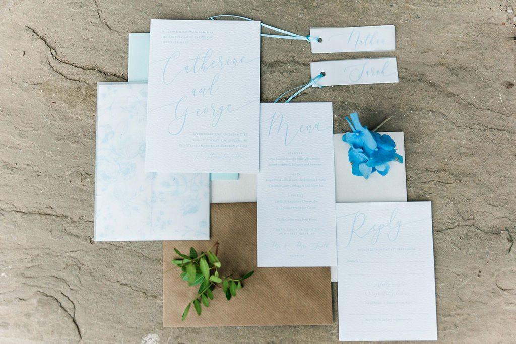 Powder Blue Wedding stationery suite