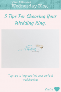 5 Tips for Choosing Your Wedding Ring