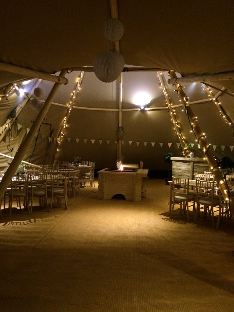 Cosy Lighting in the Teepee