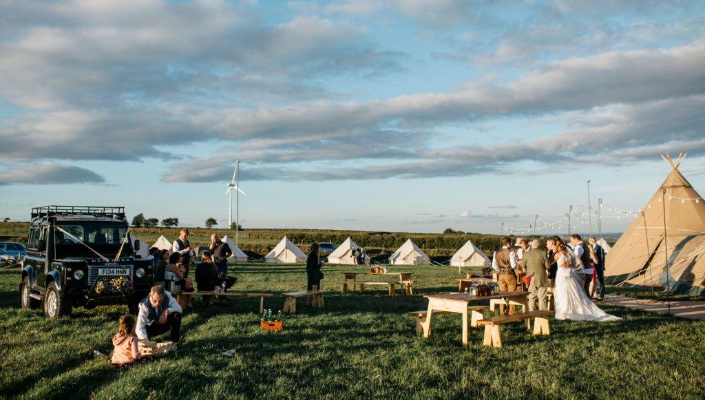 Wedding camp village at Yummy Yorkshire