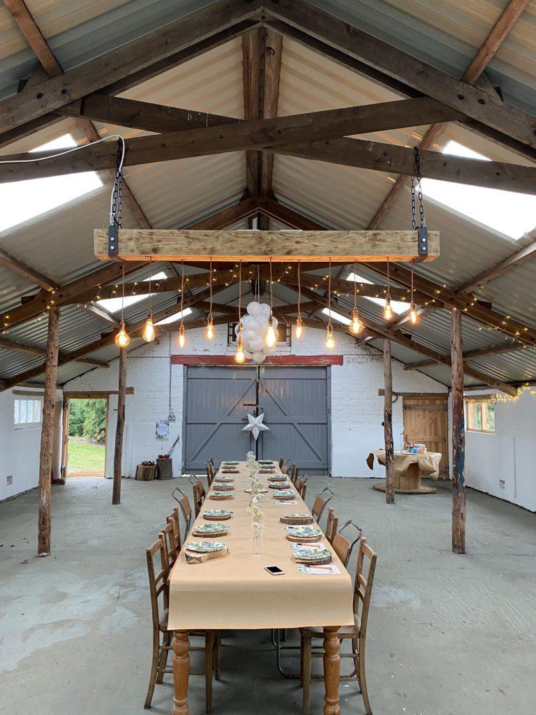 Inside the Piggery barn