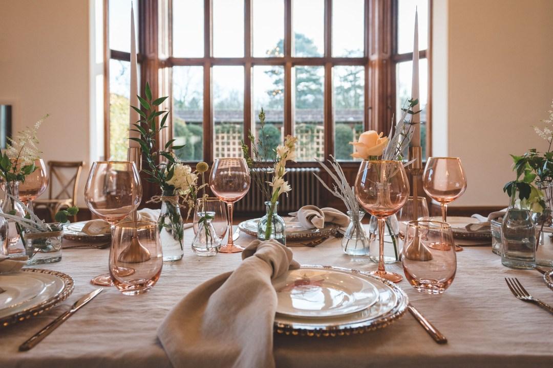 Timeless elegant wedding table