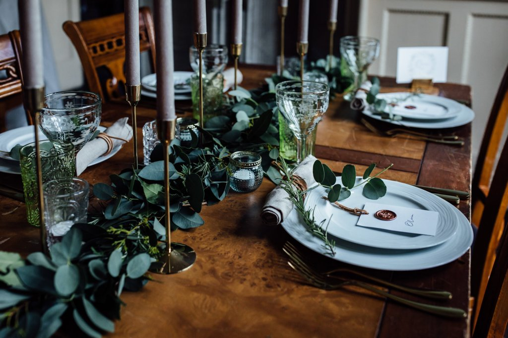 Sustainable Wedding - Home Grown Foliage Runner