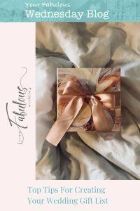 Creating Your Wedding Gift List
