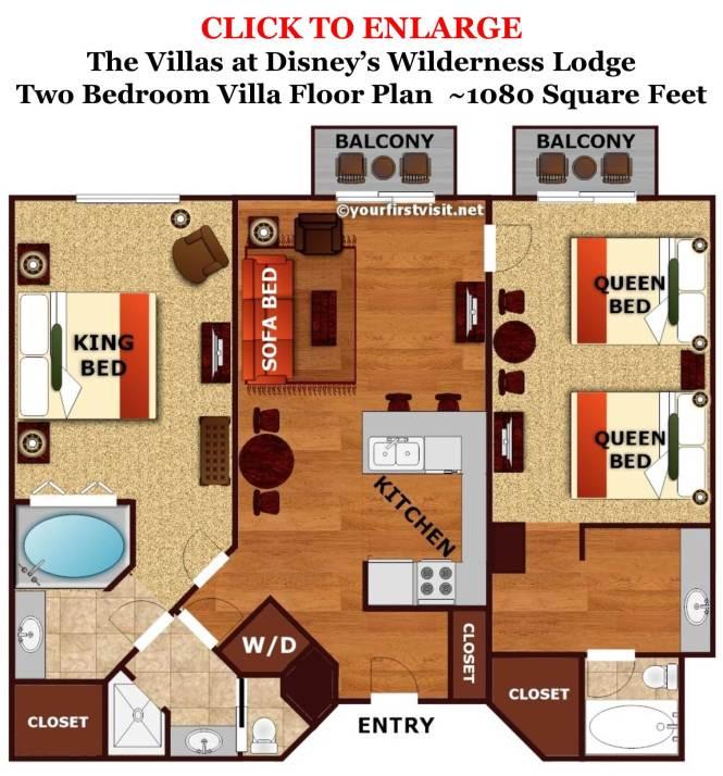 Animal Kingdom 2 Bedroom Villa  Animal Kingdom Kidani Village. Animal Kingdom 2 Bedroom Villa Floor Plan   Bedroom Style Ideas