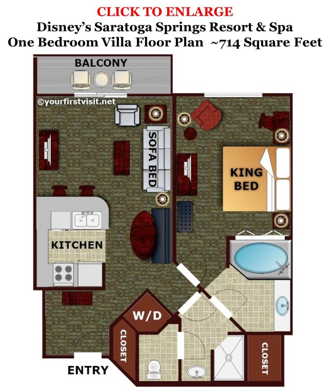 Disney Saratoga Springs 1 Bedroom Villa Floor Plan | Okeviewdesign.co