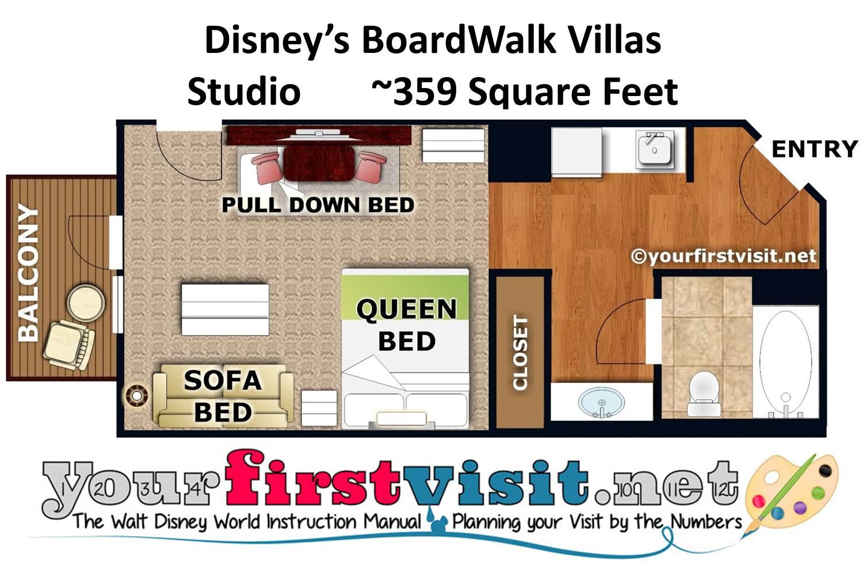 Photo Tour Of A Studio At Disneys BoardWalk Villas