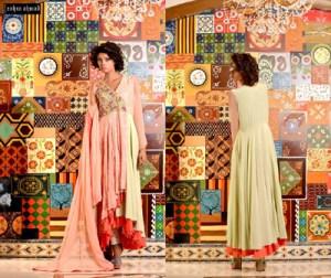 Zahra Ahmed Bridal Party Wear Dresses 2016 3