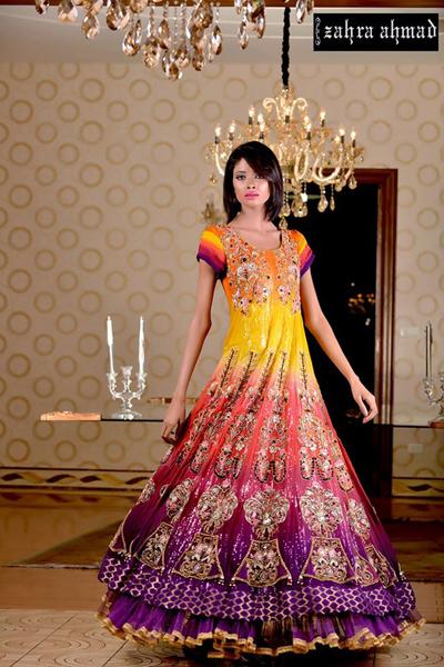 Zahra Ahmed Bridal Party Wear Dresses 2016 6