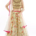 Floral Printed Net Lehenga Designs For Indian Brides 2016