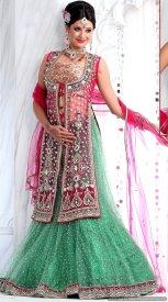 Net Lehenga Bridal Party Wear Dress For Indian Brides 4