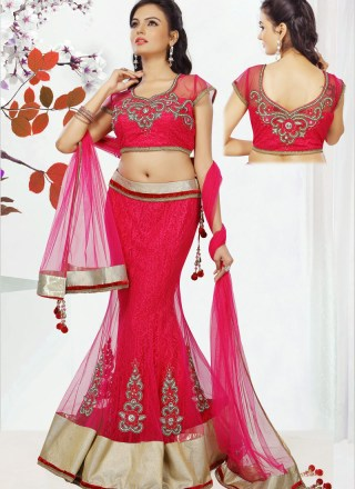 Net Lehenga Bridal Party Wear Dress For Indian Brides 6