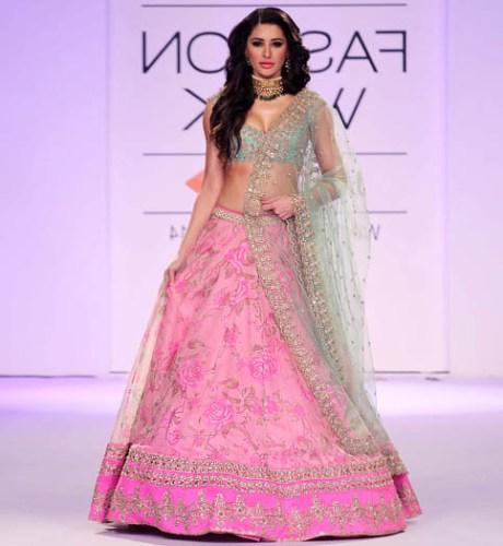 Tall Women Bridal Lehenga Dress Designs 2016