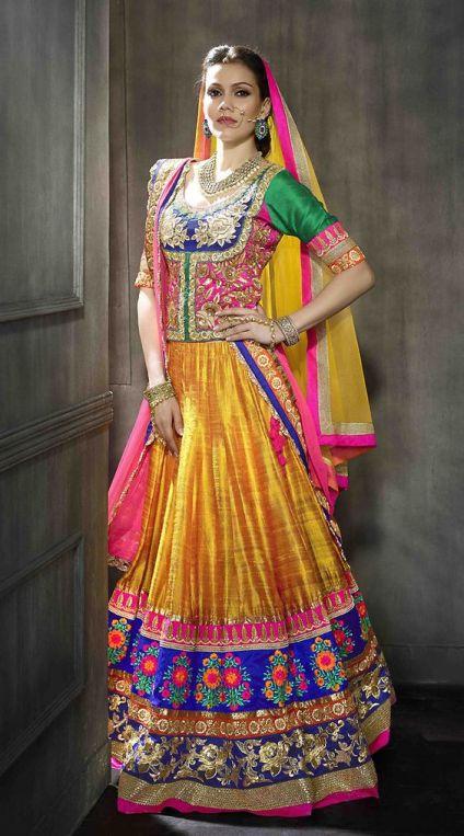 Tall Women Bridal Lehenga Dress Designs 2016 7