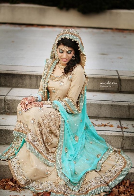 Bridal Maxis Long Dresses For Pakistani Brides 2016