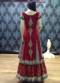 Bridal Maxis Long Dresses For Pakistani Brides 2016 9