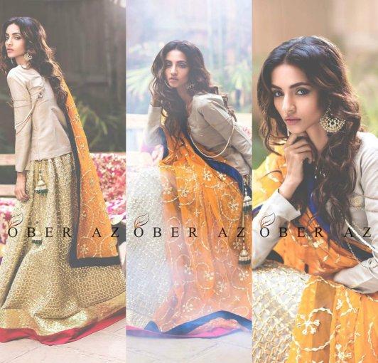 Sanobar Azfar Bridal Eid Lehanga Designs 2016 5