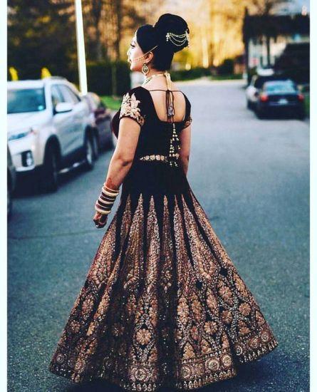 Luxury Colors Indian Lehenga Dresses For Brides 2016-17 5