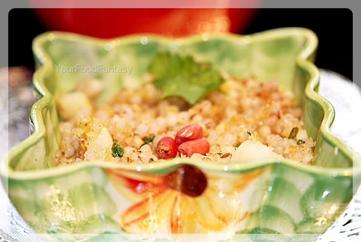 Sabudana khichdi recipe at yourfoodfantasy.com