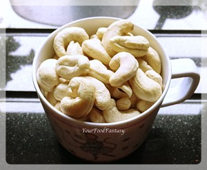 kaju katli prepration recipe at your food fantasy by meenu gupta