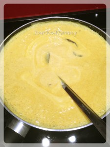 punjabi kadhi prepration at your food fantasy by meenu gupta