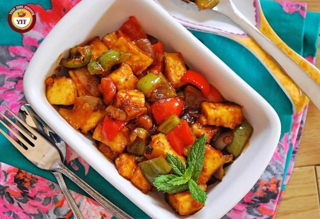 Restaurant Style Chilli Paneer Recipe | Your Food Fantasy