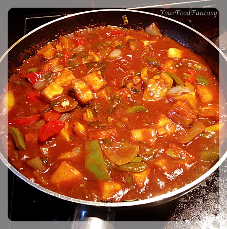 Chilli paneer recipe at yourfoodfantasy