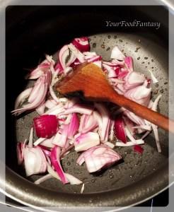 frying onion for masala paneer | yourfoodfantasy by meenu gupta