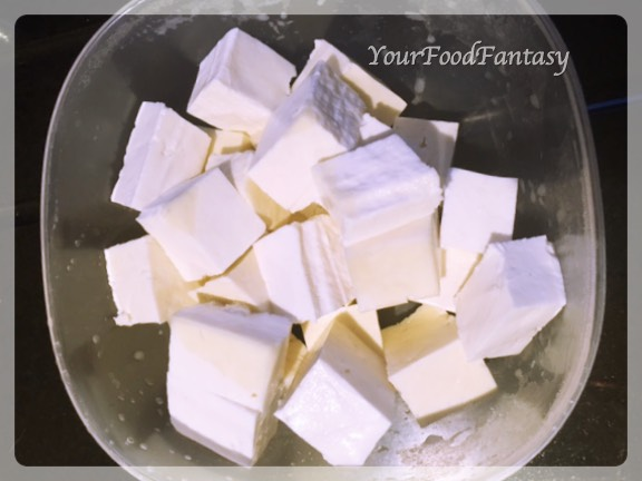 Paneer Cube Pieces for Paneer Tikka at yourfoodfantasy.com