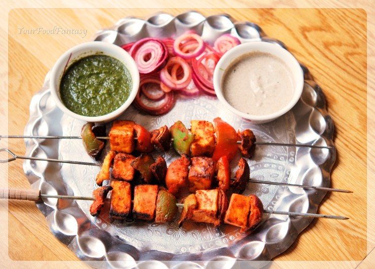 paneer tikka recipe at yourfoodfantasy.com by meenu gupta