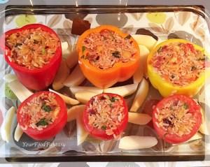 Gemista Recipe - Greek food - Yemista | Gemista | YourFoodFantasy.com
