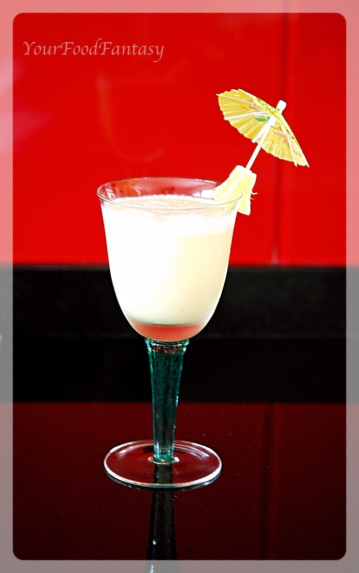 Pina Colada - Mocktail - YourFoodFantasy