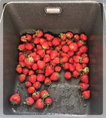 Washing Strawberries