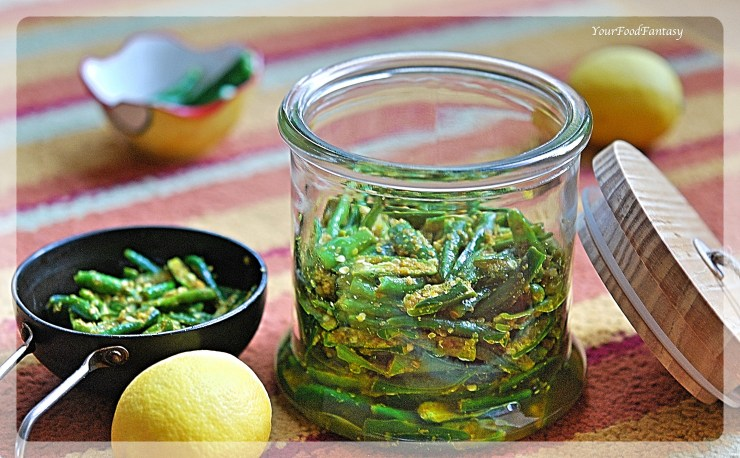 How to make instant green chilli pickle | YourFoodFantasy.com