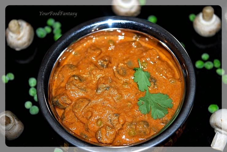 Matar Mushroom Curry | Your Food Fantasy