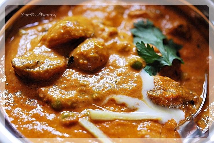 Matar Musroom   Indian Curry   Your Food Fantasy