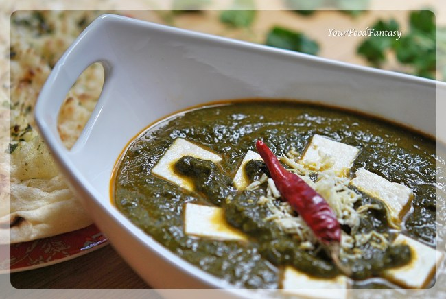 Palak Paneer | Indian cottage cheese with Spinach | YourFoodFantasy