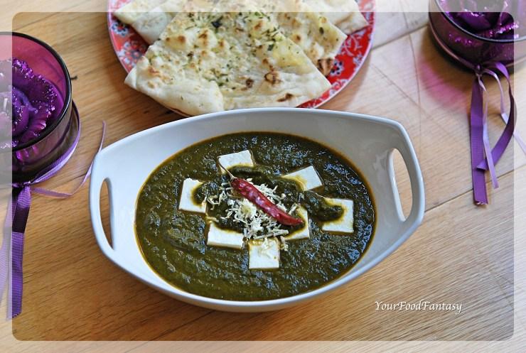 Palak Paneer Recipe | YourFoodFantasy.com by Meenu Gupta