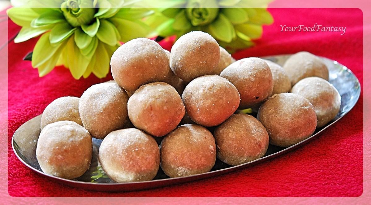 Aata Ladoo | Wheat Flour Ladoo